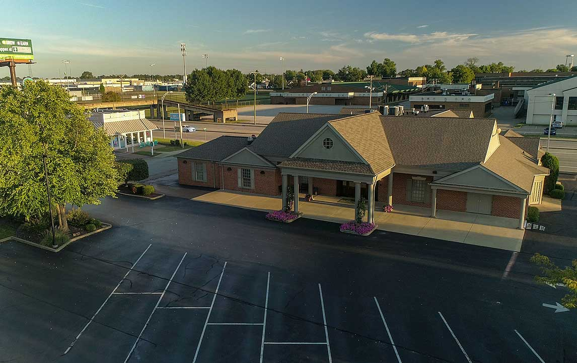 Aerial View of Funeral Home
